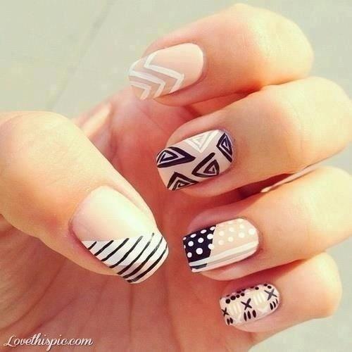 48-abstract-nail-art-ideas Cool Abstract Nail Art Ideas