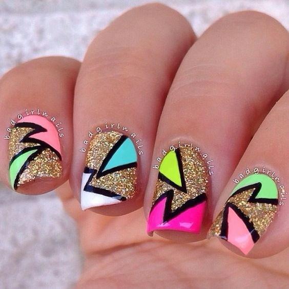 50-abstract-nail-art-ideas Cool Abstract Nail Art Ideas