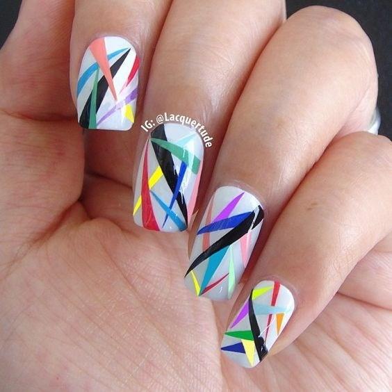 51-abstract-nail-art-ideas Cool Abstract Nail Art Ideas