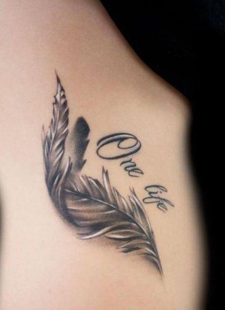 Brilliant-Feather-Tattoo-Designs-to-Impress-27-1 Brilliant Feather Tattoo Designs Try In 2020
