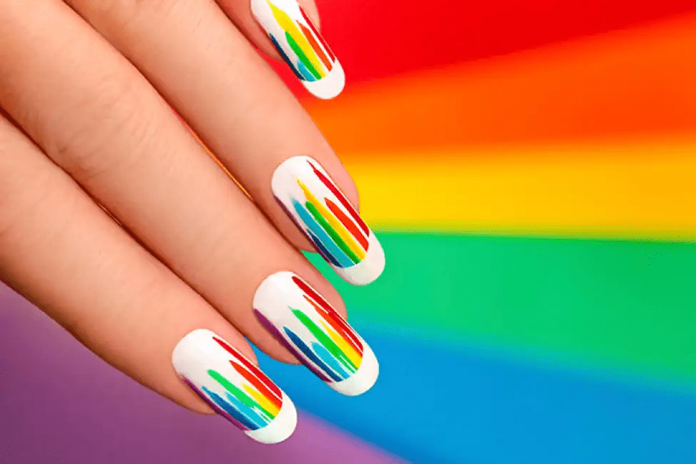 Colorful-Bands-Nail-Art 10 Acrylic Nail Designs For You To Impress Everyone
