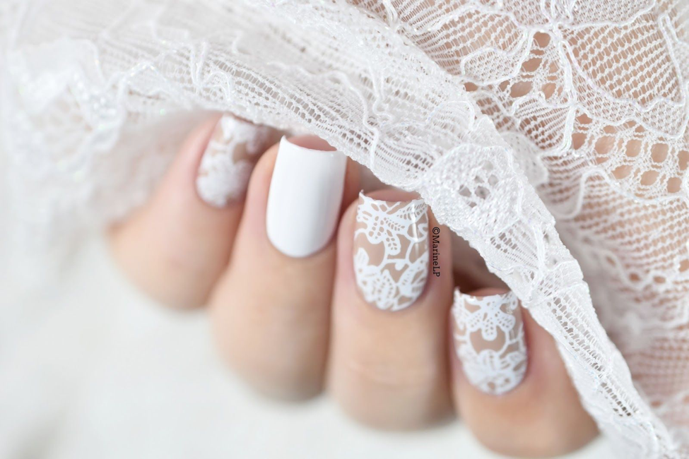 Lace-Nail-Design 10 Acrylic Nail Designs For You To Impress Everyone