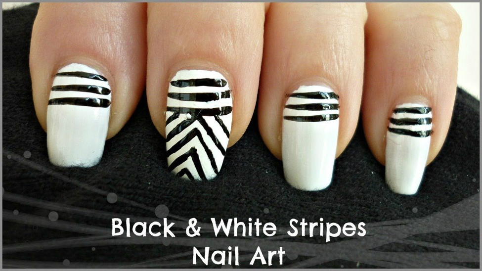Stripes-Nail-Art-Design-1 10 Acrylic Nail Designs For You To Impress Everyone