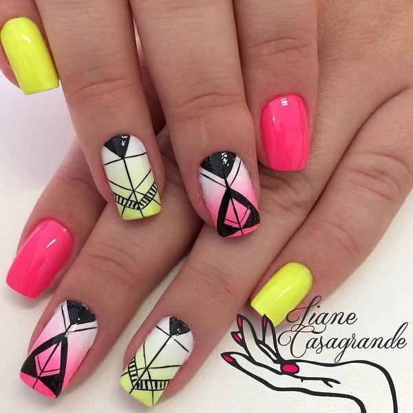 Watercolor-inspired-abstract-nail-art-1 Cool Abstract Nail Art Ideas